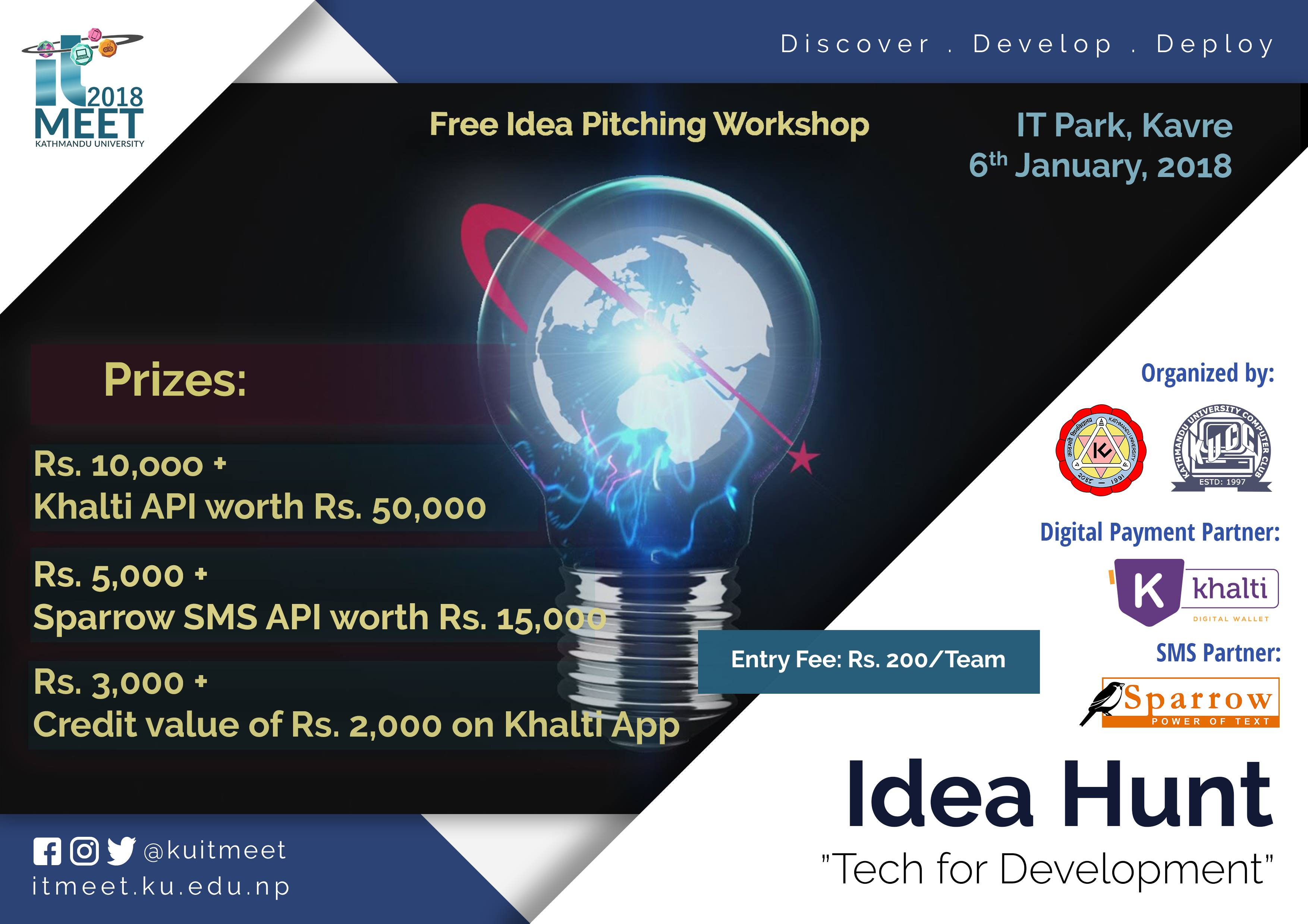 Call for Applications: Idea Hunt at Kathmandu University