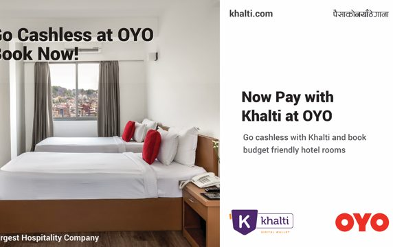 Book OYO Rooms via Khalti Digital Wallet