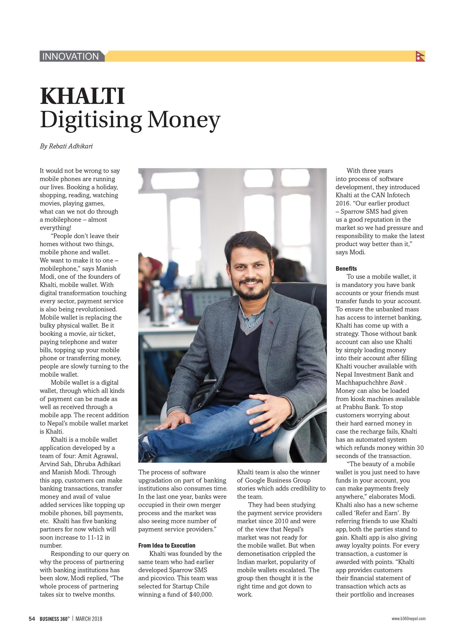 Khalti Digitizing money in Nepal_Coverage in Business 360_I