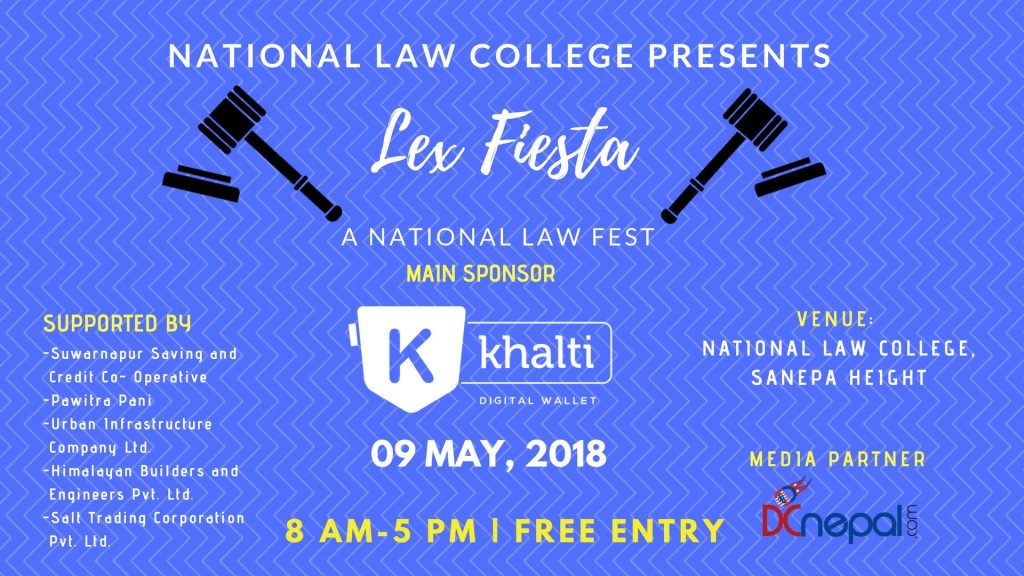 Lex Fiesta Nepal being organized at National Law College