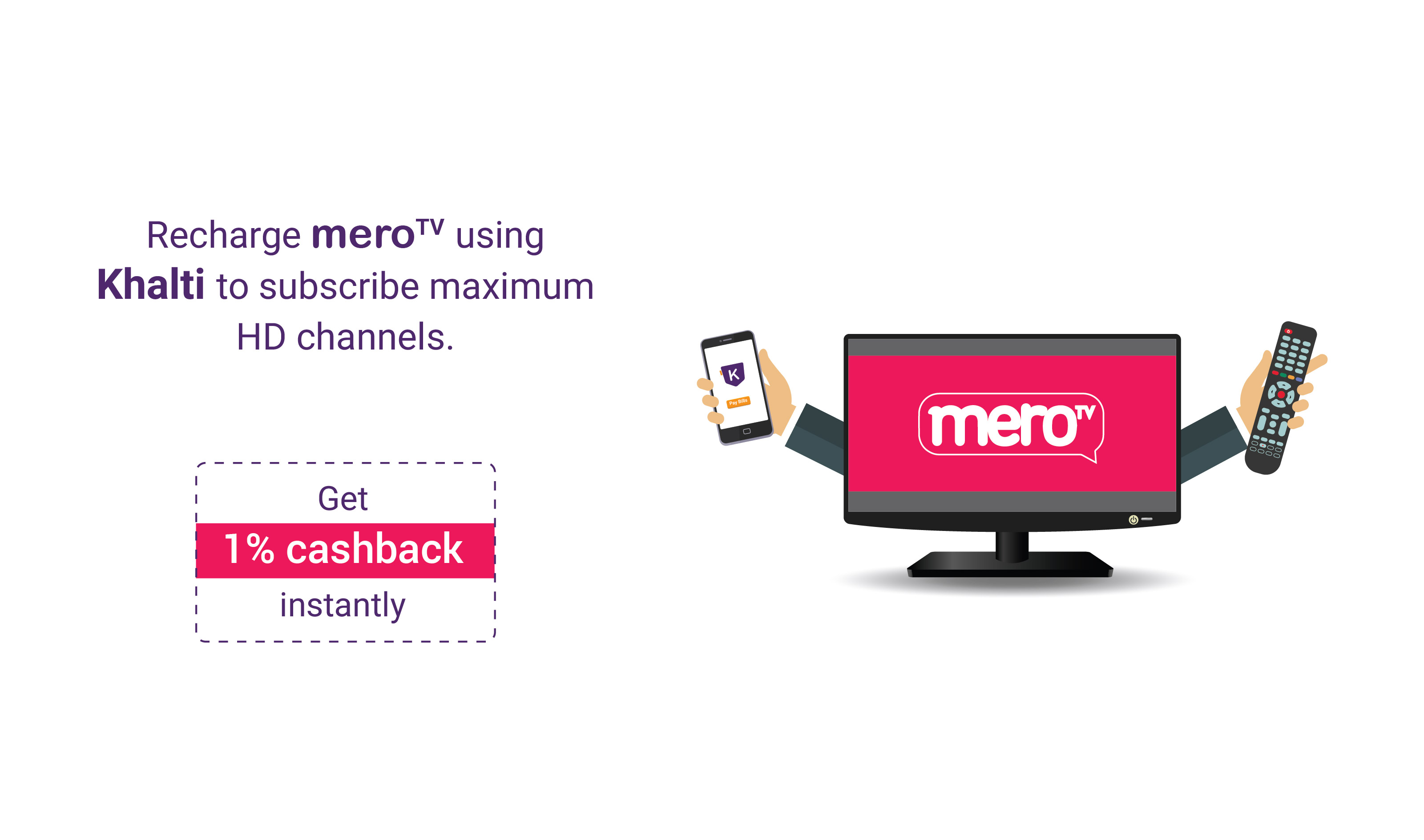 How to recharge Mero TV online using Khalti?