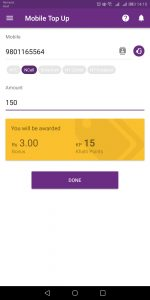 online mobile recharge khalti points
