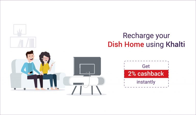 How to recharge Dish Home online via Khalti?
