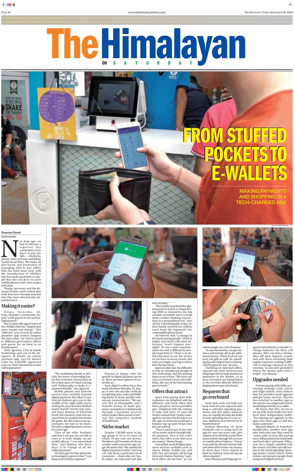 From Stuffed Pockets To eWallets in Nepal: Making Payments And Shopping In A Tech-Charged Age [THT ePaper]