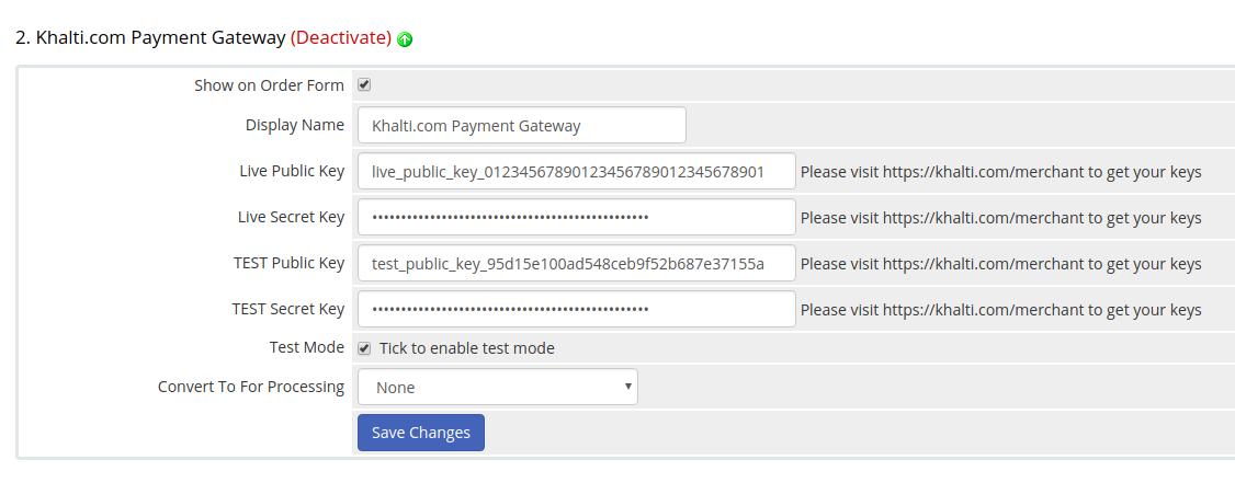 configure khalti WHMCS online payment gateway plugin