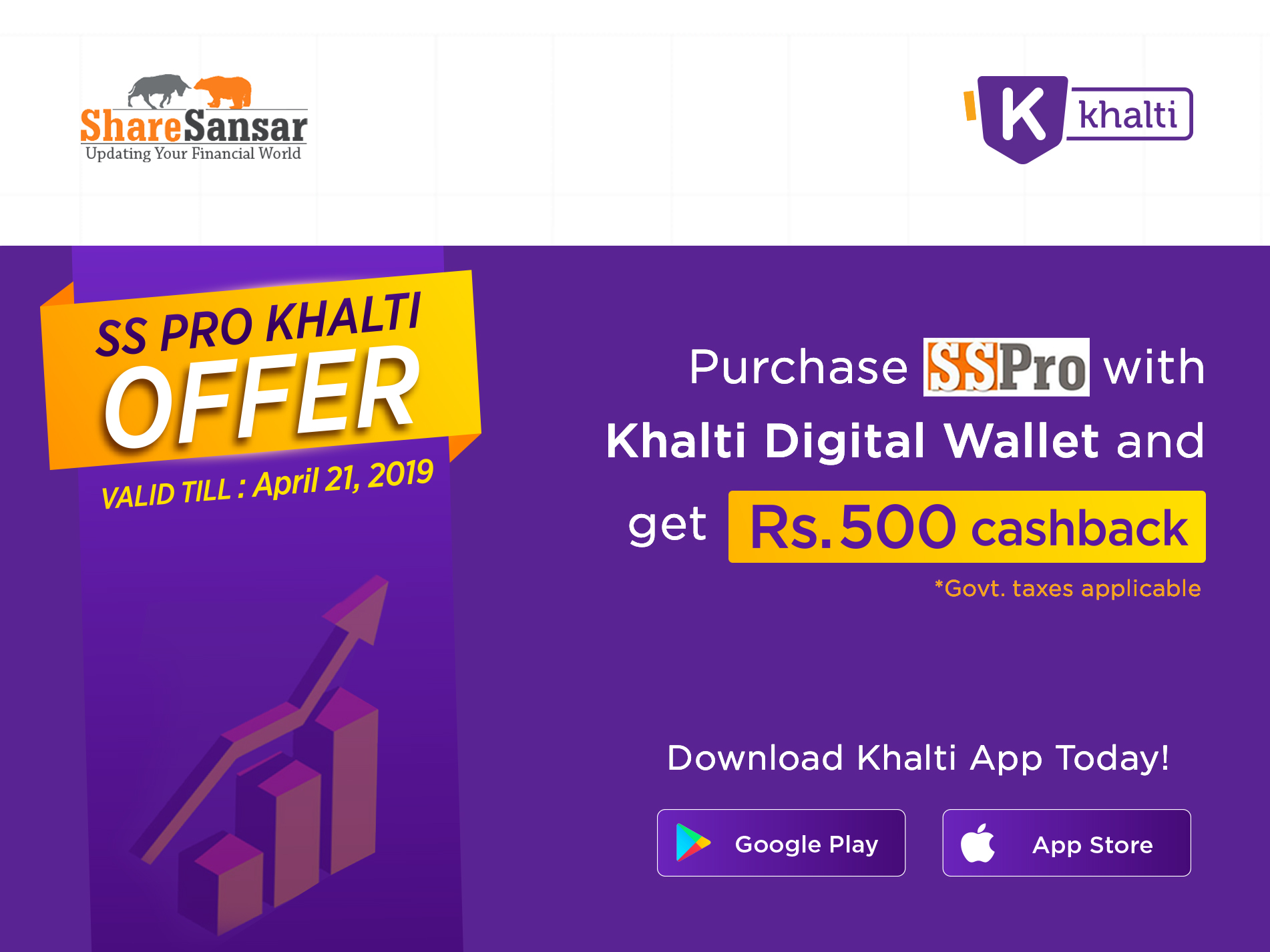 ShareSansar.com launches SS Pro software package, subscribe and pay digitally using Khalti to get Rs. 500 cashback