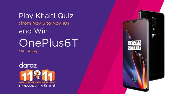 Win OnePlus 6T_Khalti_Daraz Nepal