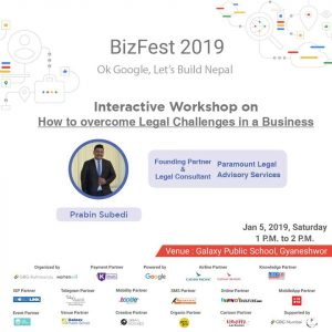 Prabin Subedi_Interactive Workshop on How to overcome legal challenges in a business