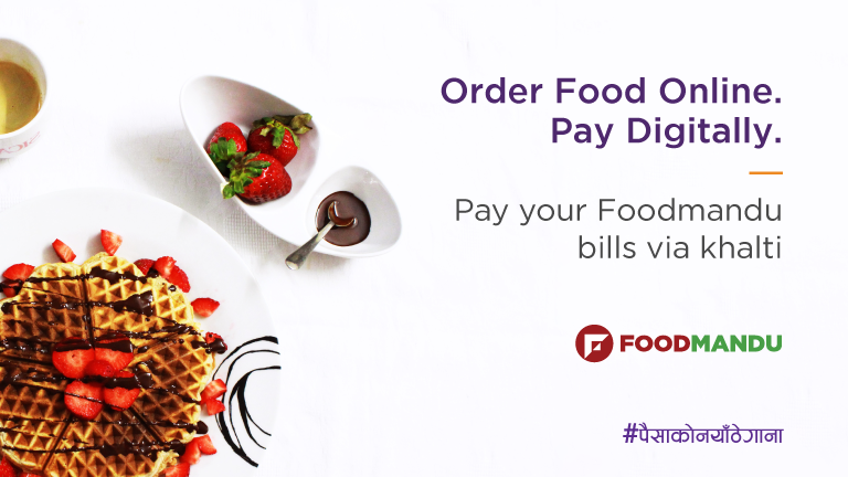 How to order food online from Foodmandu and pay digitally via Khalti