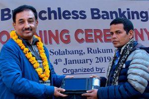 Kumari Bank starts branchless bank in Solabang, Rukum district