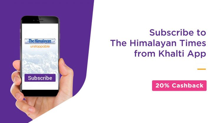 Khalti brings newspaper subscription and payment facility within its app_Subscribe The Himalayan Times