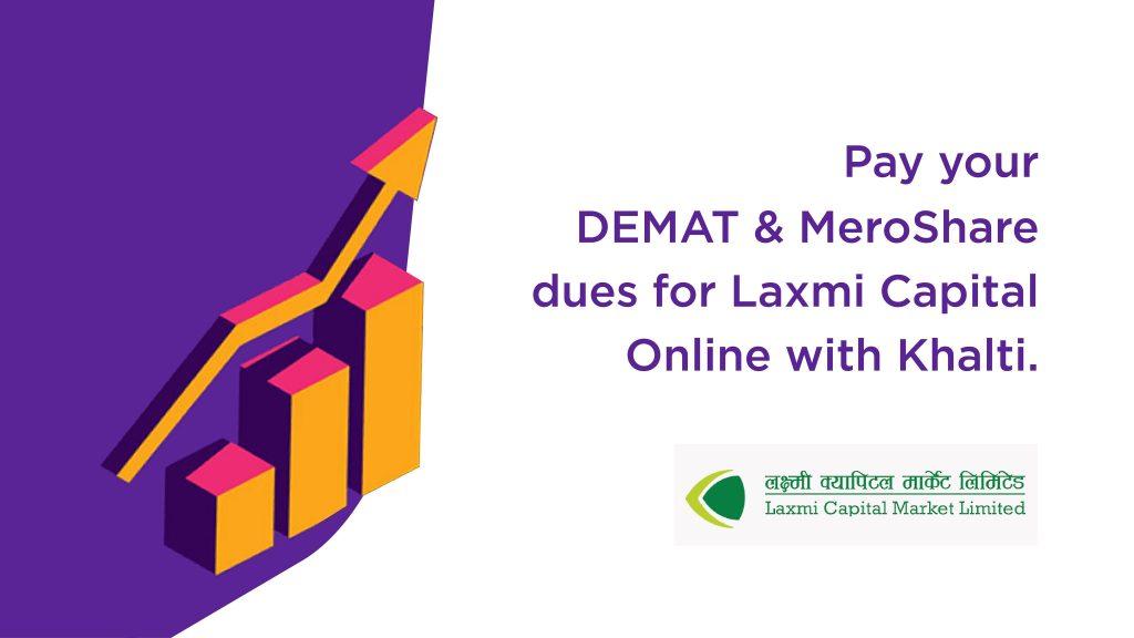 pay Laxmi Capital Demat renewal fee from Khalti