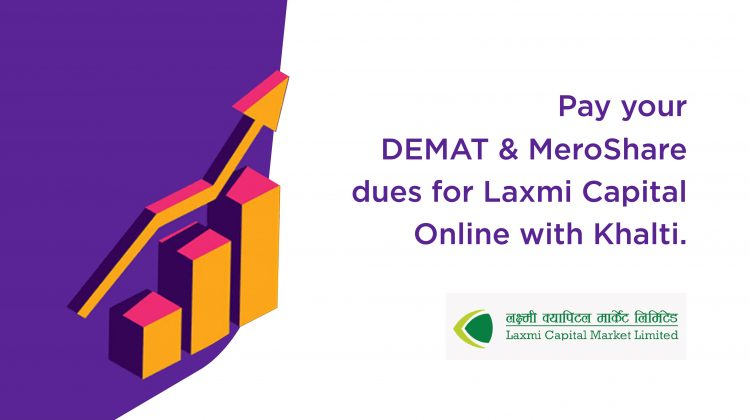 pay Laxmi Capital Demat renewal fee from Khalti