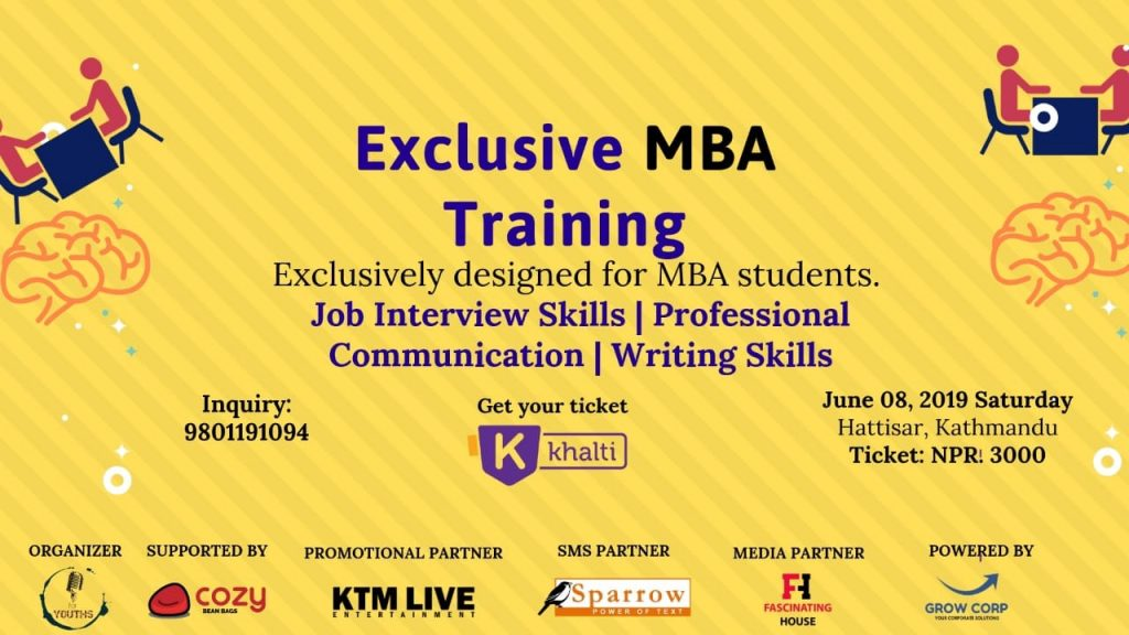 Exclusive 4 Hours MBA training_Pay enrolment fees via Khalti