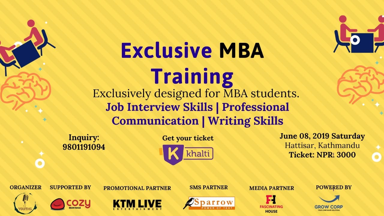 Exclusive 4 Hours MBA training: Buy Tickets via Khalti