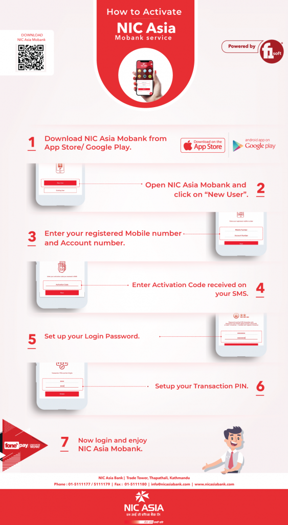 NIC Asia Mobile Banking Service Activation Manual