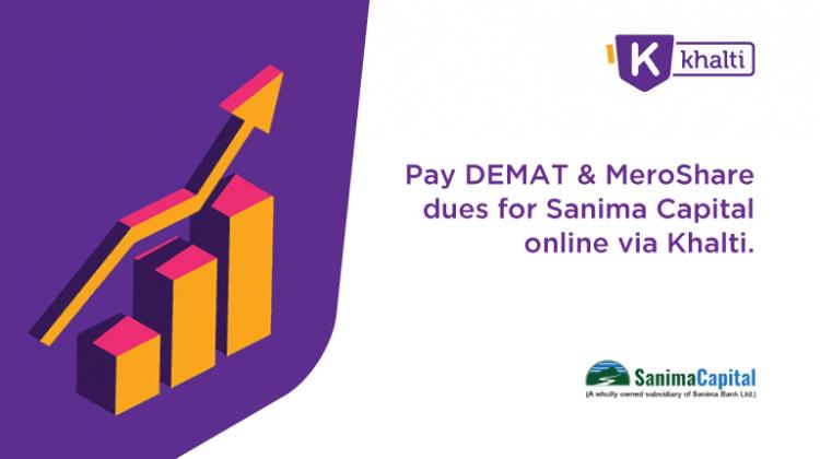 Pay Sanima Capital Demat fees and MeroShare fees via Khalti