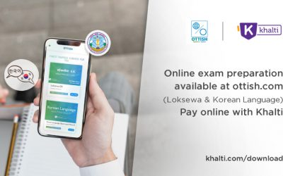Ottish Starts Online Exam Preparation Courses in Nepal, pay enrollment fee from Khalti