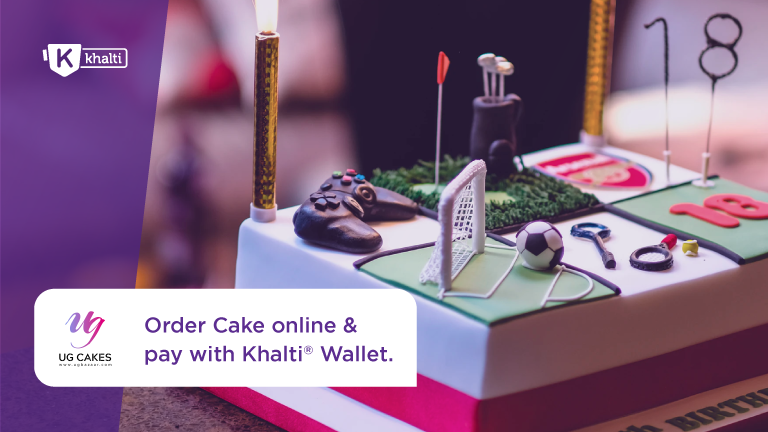 How to order cake online from UG Cakes and pay from Khalti?