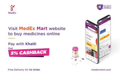 How to order medicines/health care items from MedExMart and pay from Khalti?