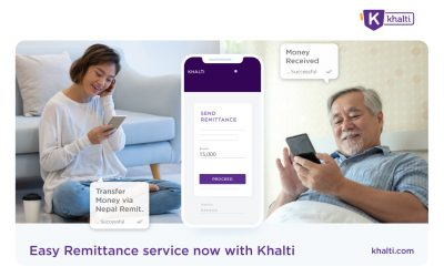 Introducing easy Remittance service with Khalti Digital Wallet
