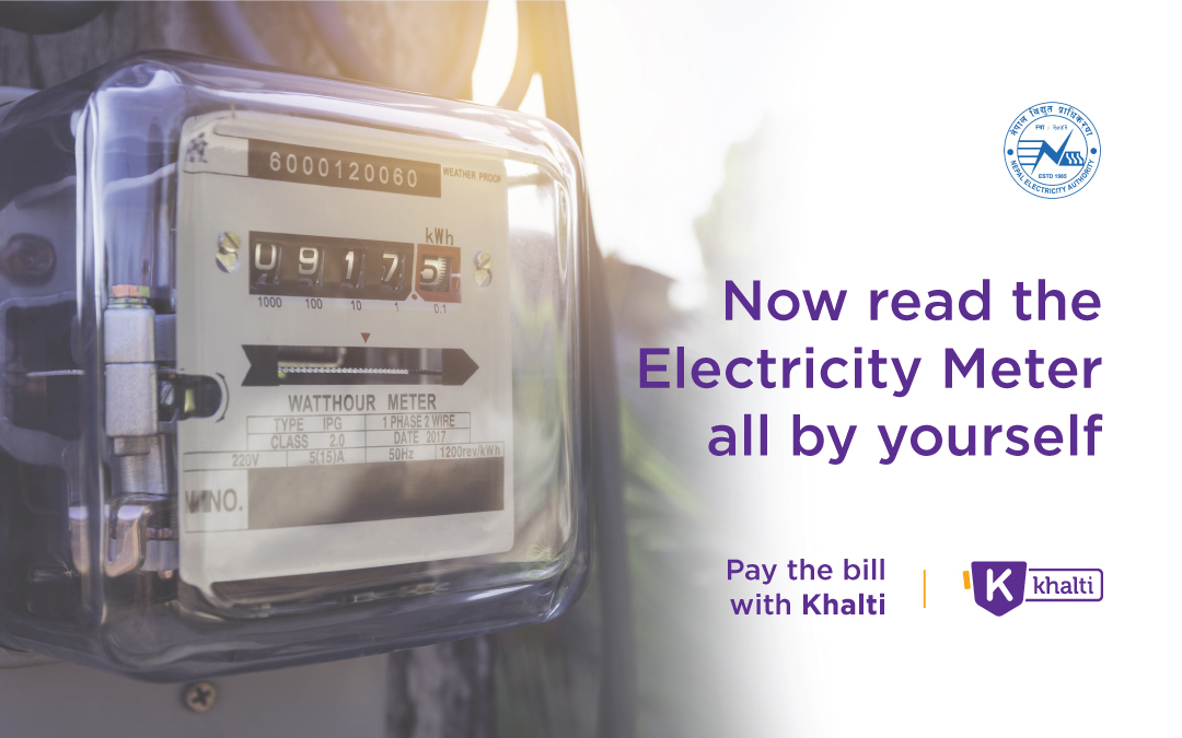 Now read the Electricity Meter all by yourself and pay the bill with Khalti!
