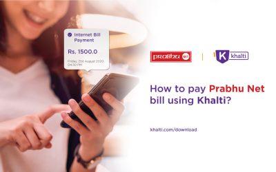 How to pay Prabhu Net bill online using Khalti?