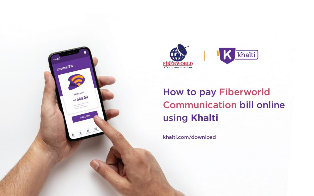 How to pay Fiberworld Communication's Bill online using Khalti?