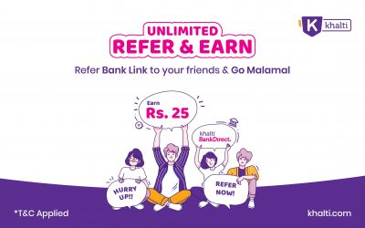 Khalti Bank Direct – Unlimited Refer & Unlimited Earn Offer