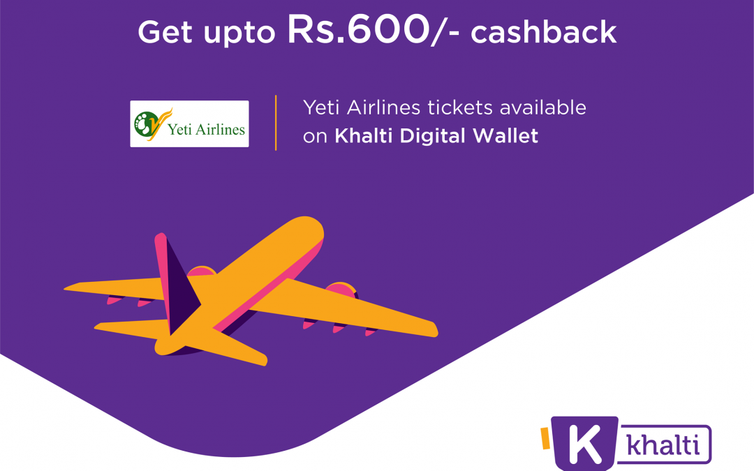 Book Your Yeti Airlines Flight Via Khalti With Just A Few Clicks