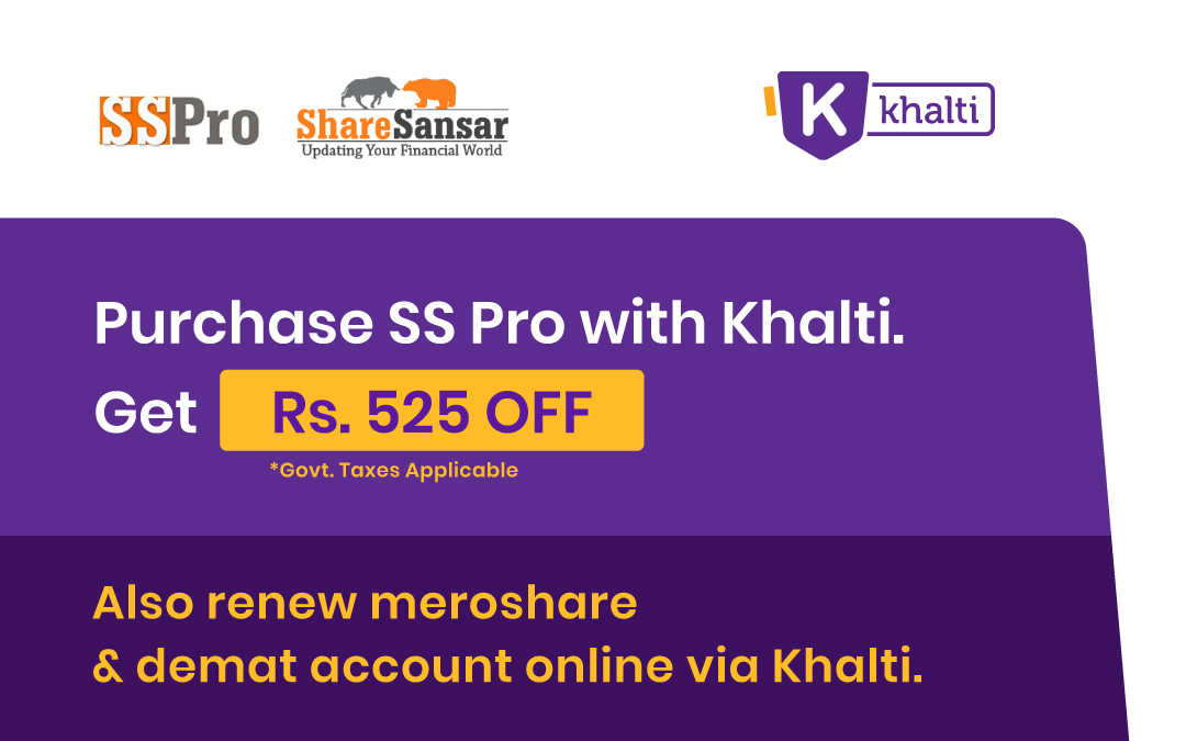 Purchase SS Pro with Khalti to get Rs. 525 cashback