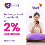Recharge Ncell from Khalti