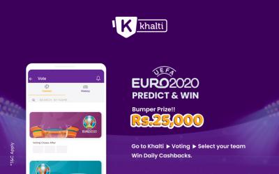 खल्तीको Euro 2020 – Support Your Team बाट रू. २५००० सजिलै जित्ने सुनौलो अवसर