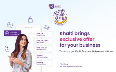 Easily Integrate Khalti into your business for free within the month of Asar