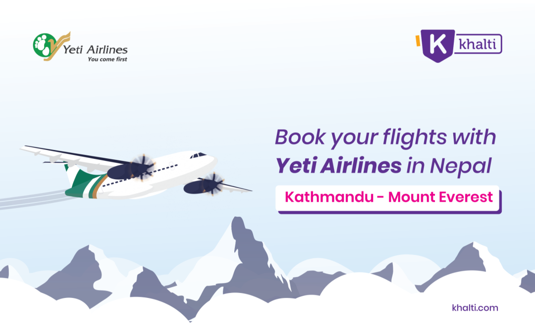 Book Kathmandu to Mount Everest flights with Yeti Airlines in Nepal